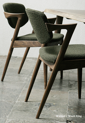 NO.42 CHAIR Kai Christiansen wool chair mid century