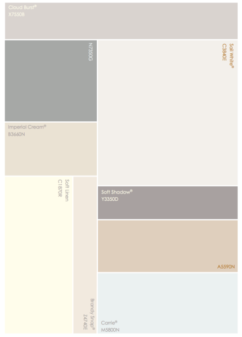 Crown Faded Simplicity Colour Chart