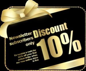 newsletter discount