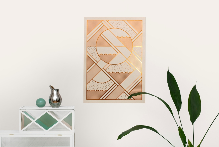 Copper Beige Levels Print