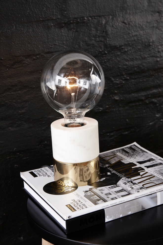 Gold Marble Bulb Lamp