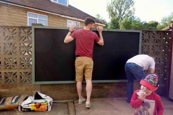 hanging blackboard
