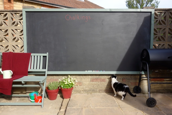 After - outdoor blackboard