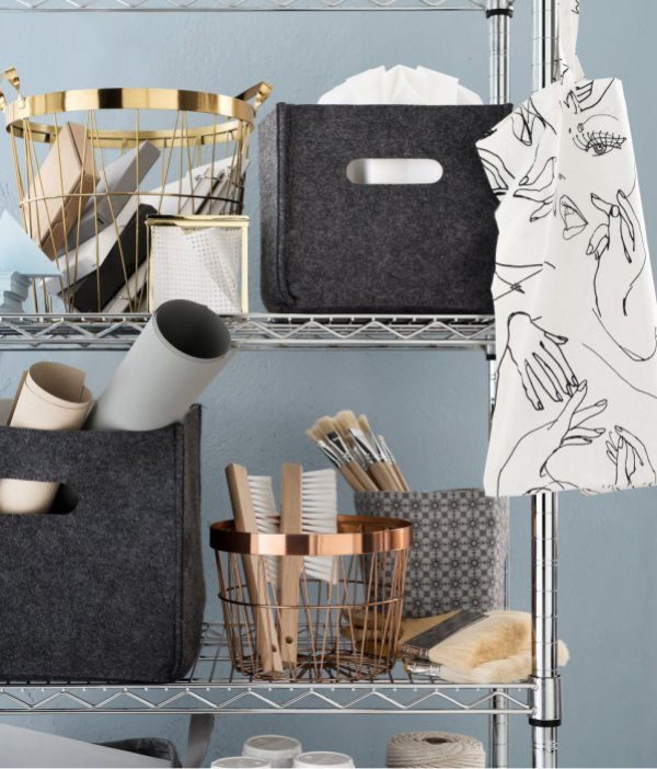 Brass and Gold H&M metal basket