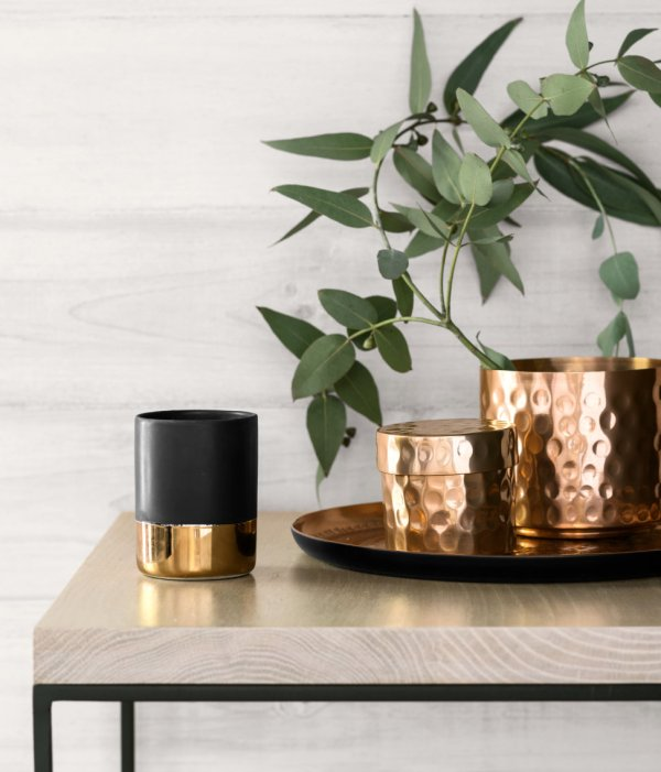 H&M copper pots