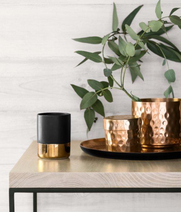 H&M copper pots