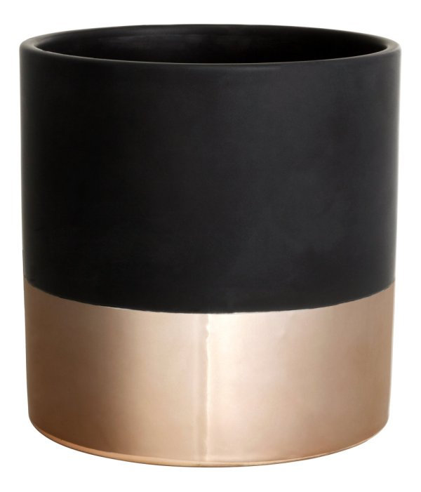 H&M gold copper plant pot