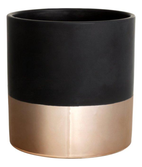 H&M gold copper plant pot