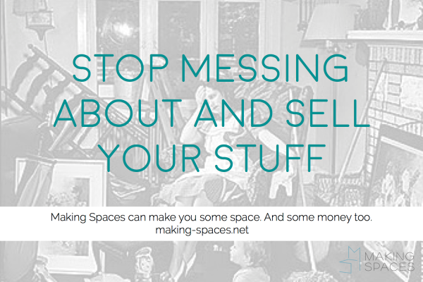 Stop messing about and sell your stuff