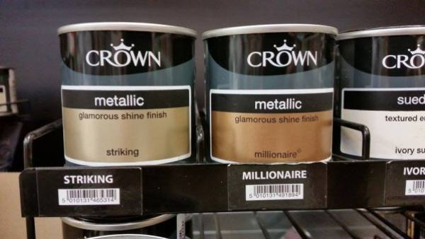 crown metallic paints striking millionaire