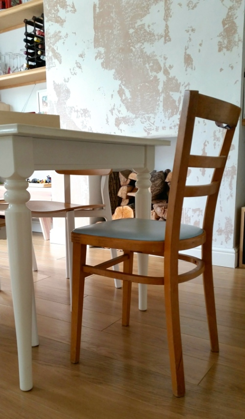 mid century kitchen chair at home