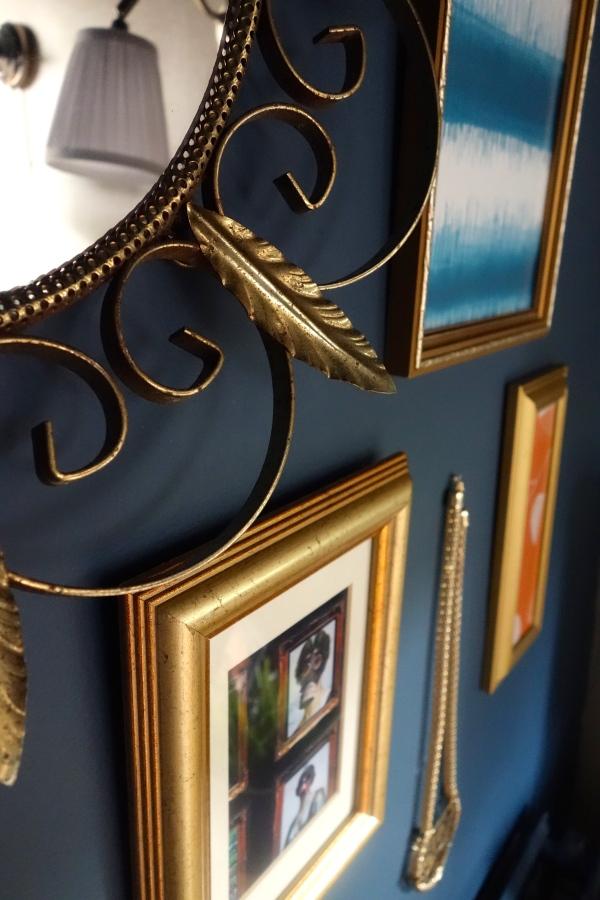 Brass charity shop mirror