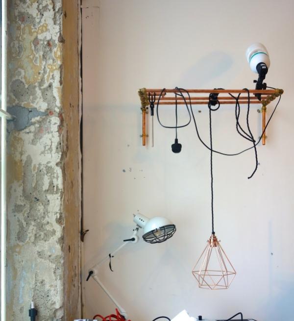copper cage light