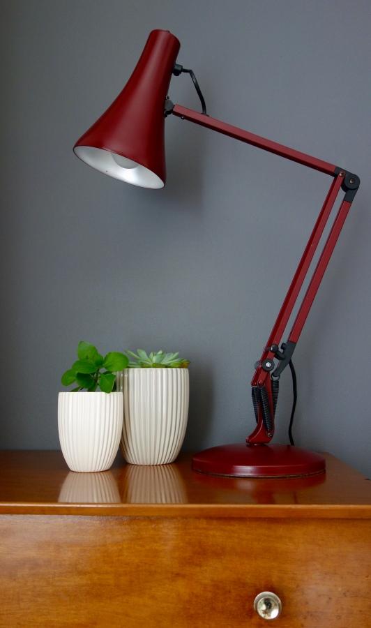 anglepoise lamp burgundy