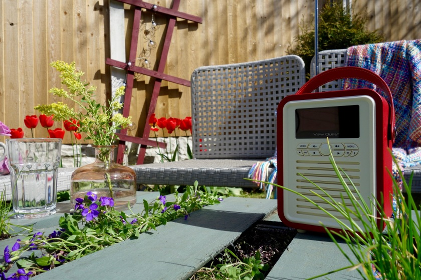 gardening with the radio