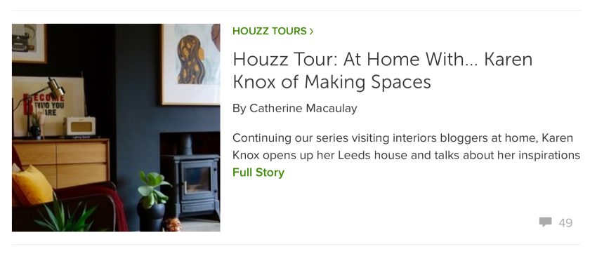 Making Spaces featured on Houzz UK