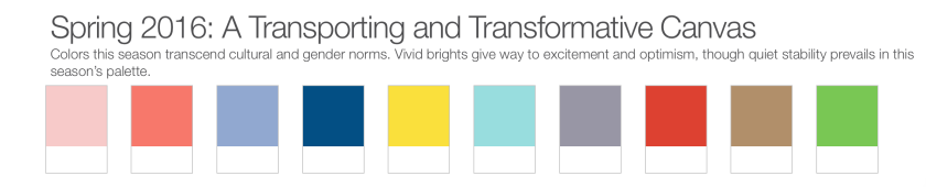 Pantone Spring Colours 2016