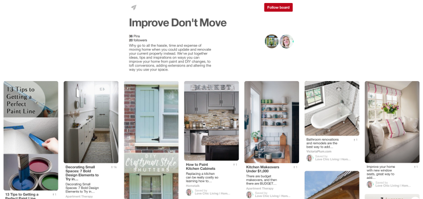 Improve - Don't Move Pinterest Board Network Veka