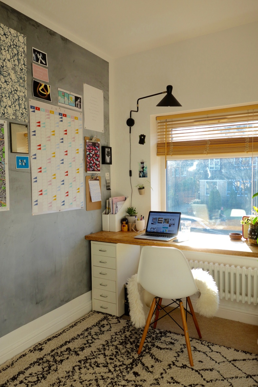 Home Office with Magnetic Wall