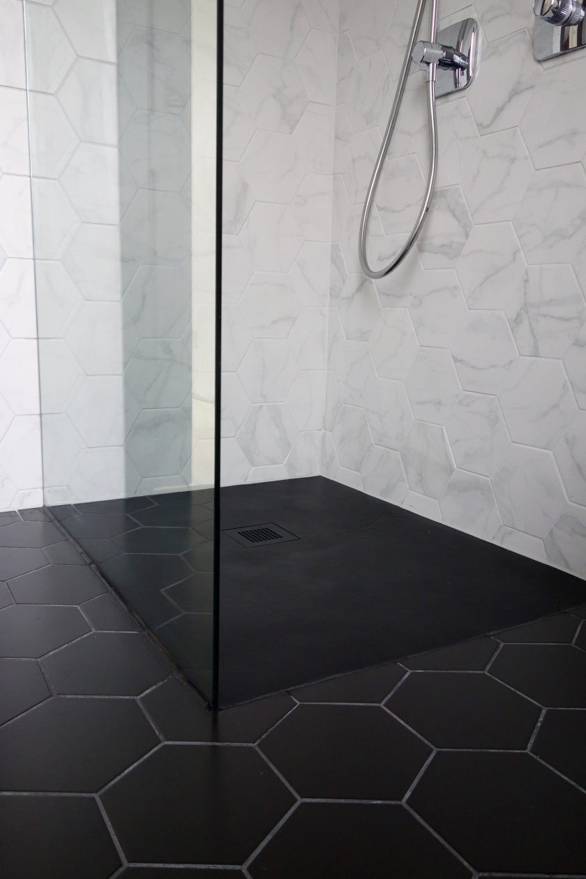 Just Trays Softstone Black Slate Shower Tray